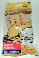 Woodshop HELICOPTER Easy To Assemble Includes 15 Pre-Cut Pieces Rubber Band NIP