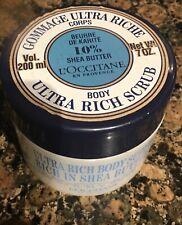 L'occitane Shea Butter Ultra Rich Body Scrub 7oz