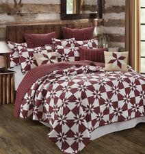 Hunter Star Red-King Size Three Piece Quilt Set-New
