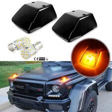 Smoke Lens Turn Signal Lamp w/Led Bulbs For Mercedes Benz G500 G550 G63 Amg etc