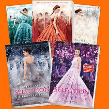 Set: KIERA CASS | SELECTION Band 1-5 Komplett | Selection Band 1+2+3+4+5 (Buch)
