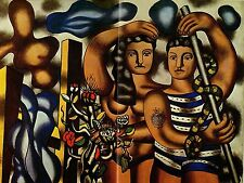 """1976 Vintage FERNAND LEGER """"ADAM AND EVE"""" TATTOO & SNAKE COLOR offset Lithograph"""