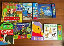 Lot 7 PLAY-a-SOUND Interactive board books Thomas Animal Tested Working