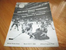 1984 NCAA HOCKEY QUARTER-FINAL Program WALTER BROWN ARENA Jack Parke Jerry York