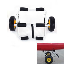 Bend Kayak Canoe Boat Carrier Dolly Trailer Tote Trolley Transport Cart Wheel