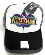 WWE Wrestlemania 34 White Grey Hat baseball cap NEW AUTHENTIC w/ tags wwf