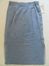 CLC Ladies Long Skirt 18W Lightweight Blue Maxi Stretch Duster NWT MSRP $42.00