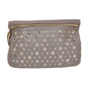 Jimmy Choo Clutch Bag  Grays Leather 1528720