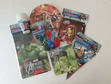 Marvel's The Avengers Party Supplies Dine and Decorate Bundle