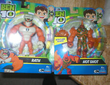 BEN 10 ACTION FIGURES RATH AND HOT SHOT, BOTH UNOPENED, FROM PLAYMATES TOYS