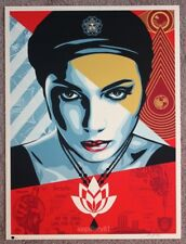 Obey Oil Lotus Woman Print by Shepard Fairey signed and numbered