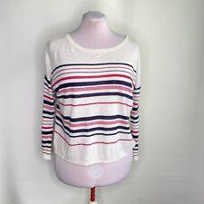 Joie women Sz XS Maine Coastal Striped Long Sleeve Sweater Linen