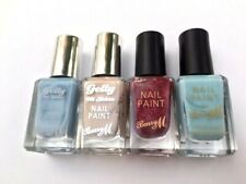 4 x NEW BARRY M NAIL POLISH ELDERBERRY LYCHEE BLUE MOON RUBY SLIPPERS