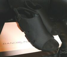 9.5 M NEW BANDOLINO B-FLEXIBLE BLACK GALEDALE SANDAL WEDGE HEEL