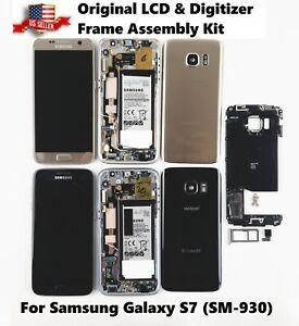 Original Samsung Galaxy S7 SM-G930 LCD Screen Digitizer Frame Replacement Kit