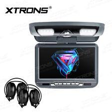"XTRONS 9"" Auto KFZ Deckenmonitor DVD Player Flipdown USB SD mit 2 Kopfhörer GRAU"
