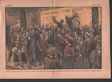 AFFRONTEMENT RUE CROIX DE FEU PSF CONTRE FRONT POPULAIRE ILLUSTRATION 1936