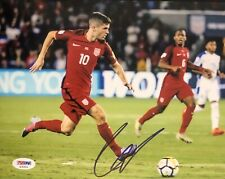 Christian Pulisic Signed Autographed Team USA 8x10 Photo Chelsea FC Psa/Dna