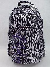 New Womens Girls BILLABONG Laptop Backpack School Book Bag White Black Purple