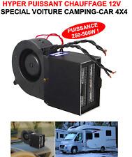HYPER PUISSANT CHAUFFAGE SOUFFLANT 12V 500W ! BATEAU CAMPING CAR 4X4 CABRIOLET