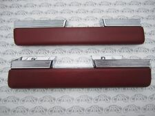 1963 1964 Buick Riviera Chrome Arm Rests  | Pair | Correct Grain - Red