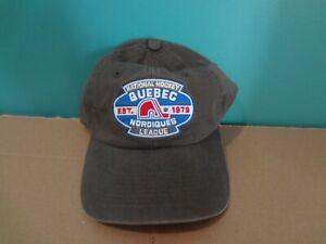 Quebec Nordiques Strapback Hat Old-Time Hockey OSFA NEW Vintage NHL