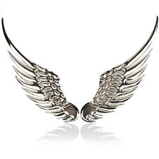 2x 3D Angel Hawk Wings Car Chrome Metal Silver Emblem Sticker Decor Decal Logo