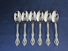 SET OF SIX - Oneida Stainless MICHELANGELO Oval Soup / Place Spoons HEIRLOOM USA