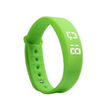Kids Gift Activity Tracker Bracelet Pedometer Fitness Band Fitbit Style Watch UK Green