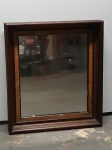 Frame 1900s ANTIQUE mirrors Elegant Turn Century Dark WOOD VINTAGE