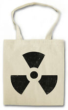 Radioactive Sign cotton bag-sacchetto iuta tessuto bustina-Warning SCUDO LOGO NEW