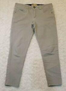 """Democracy Jeans """"Ab"""" Technology Grey/Khaki Jegging Women's Size 8 *HOLE*"""