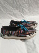 Unisex Vans Flat Bottom Casual Shoes Size 6.5 Mens And Size 8 Womens