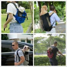 Pet Dog Cat Puppy Carrier Travel Mesh Double Shoulder Bag Sling Backpack DMF