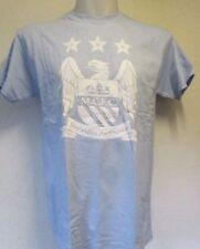 Manchester City CELESTE Crest Tee Shirt Taglia XL OFFICIAL Merchandise NUOVO