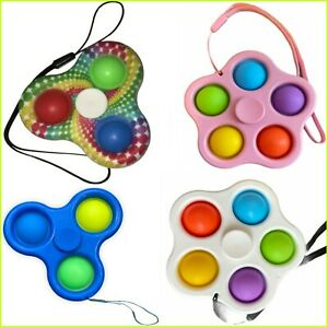 Push Pop Bubble Stress Relief Sensory Toy It Autism Fidget Spinner UK