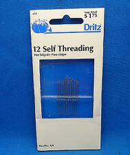 Dritz 672 Self Threading Needles-Size 4/8 (12Pk of needles) 1994, High Quality