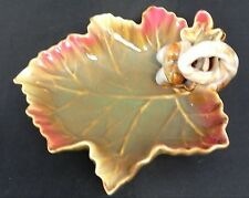 Oak Leaf and Acorn Pottery Decorative Dish