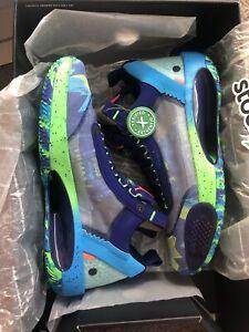 Size 10.5 - Jordan XXXIV 34 Low EYBL - Regency Purple/Rage Green