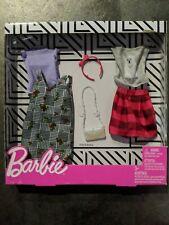 Barbie Doll Clothes FASHION PACK Polar Bear Shirts Plaid Skirt Headband Purse