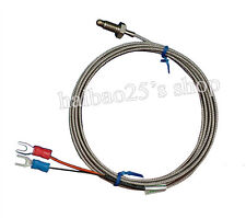 1m High Temperature Cable PT100 Thread K Type Thermometer sensor 0℃ ~ 800℃