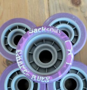 Backspin Grade Ade Full Set (8) Roller Skate Wheels Never Used 62x42mm 93A