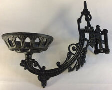 """New Early American / Victorian Style 11"""" Cast Iron Wall Bracket For Oil Lamps"""