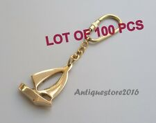 Vintage Reproduction Brass Ship Key Chain Ring Collectible Lot Of 100 Pcs Gift..