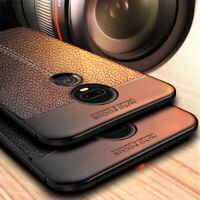 Shockproof Slim Soft Leather Skin Case Cover For Motorola Moto G8 Plus E6 P40 G7