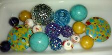 Jewelry making bead lot, PULLED TAFFY, jewelry, necklaces, glass bead assorted
