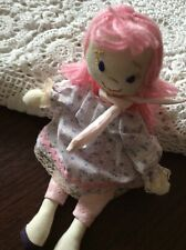 Child's Pink doll Handmade Homemade Perfect For Small Hands Washable