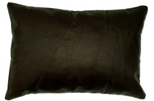 Full Grain Leather Brown Lumbar Pillow Cover Only Or With Cushion Couch Decor