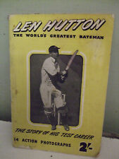 LEN HUTTON The Story of His Test Career 14 Action Photographs 1952