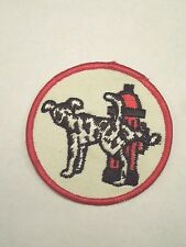 Vintage Fire Department Dalmatian Dog Peeing on Hydrant Patch